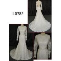 Buy cheap ANGLE Supply Type OEM Service long sleeve high neck lace wedding dress from wholesalers