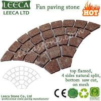 Wholesale Garden cobblestone paver Red porphyry fan paving decorative stone from china suppliers