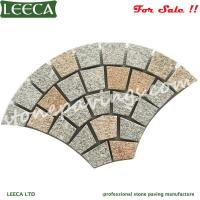 Wholesale LEECA Granite pavers fan pattern paving stones from china suppliers