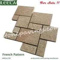 Wholesale LEECA Yellow G682 mesh paving stone from china suppliers