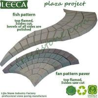 Wholesale LEECA Landscape garden decorative stone peacock tail paver from china suppliers