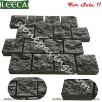 Wholesale Garden cobblestone paver Natural split dark grey granite pavers driveway outdoor from china suppliers