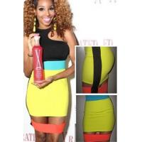 Wholesale Club Dresses Trendy Neon Colors Stitched Celebrity Inspired Mini Dress from china suppliers