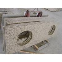 China Natural Granite Prefabricated Light Grey Granite Kitchen Countertop with Bar Top on sale
