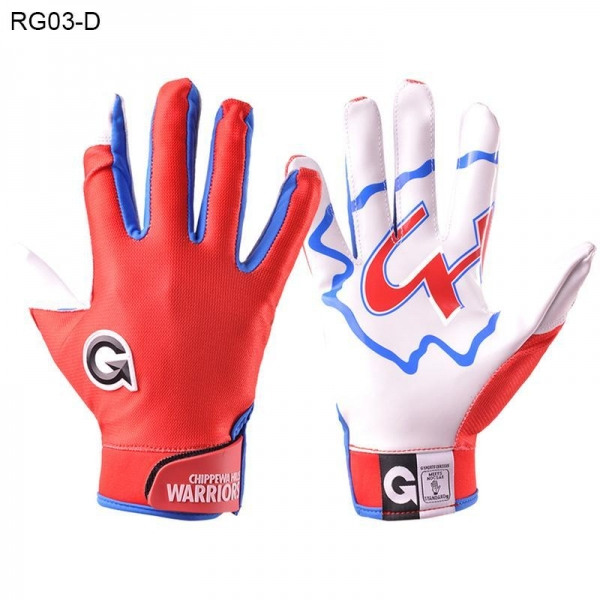 China American Football Gloves Customize Youth Wide Receiver Gloves RG03-D
