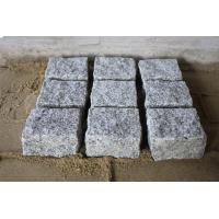 China G603 Grey Granite Natural Cobblestone Cube Outdoor Paver For Driveway,Landscape on sale