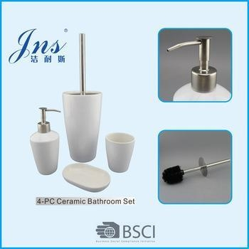 White bathroom set bathroom accessories names of item 48927964 for Bathroom names