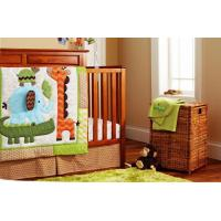 Customized Neutral Infant 9 PCS Giraffe Elephant Jungle Collection Crib Bedding Set