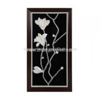 Wholesale Unique Shell Made Magnolia Flower Shape Wall Picture for Decoration from china suppliers