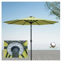 Wholesale COBANA 9 Ft. Aluminum Solar Powered Pole Light & 12 LED Light Patio Umbrella, Green from china suppliers