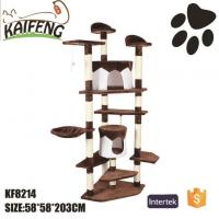 Buy cheap KF8214 Luxury Pet Toy Multi-level Cat Tree Plush Cat House from wholesalers