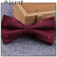 Wholesale stock low moq 10 extra long burgundy bow tie from china suppliers