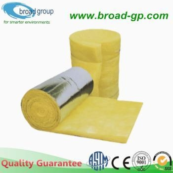 Heat insulation fiber glass wool blanket with aluminium for Glass fiber blanket insulation