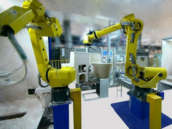 Quality High-pressure Casting Uni ROBOT GLAZING WORKING STATION for sale