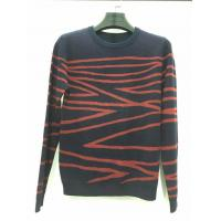Wholesale Hot sale design black and red knitted pattern long sleeve sweater for men from china suppliers