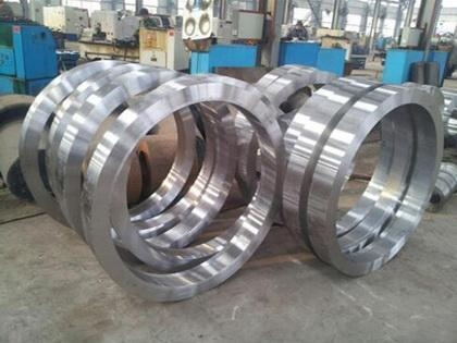 Quality Forging ring DIN16MnCr5 alloy steel ring for Huntington for sale