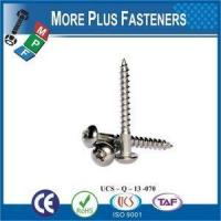 Wholesale Made in Taiwan DIN 7996 A2 Stainless Steel Pozi Round Head Wood Screw from china suppliers