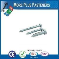 Wholesale Made in Taiwan DIN 571 Hexagon Head Wood Screw Zinc Plated from china suppliers