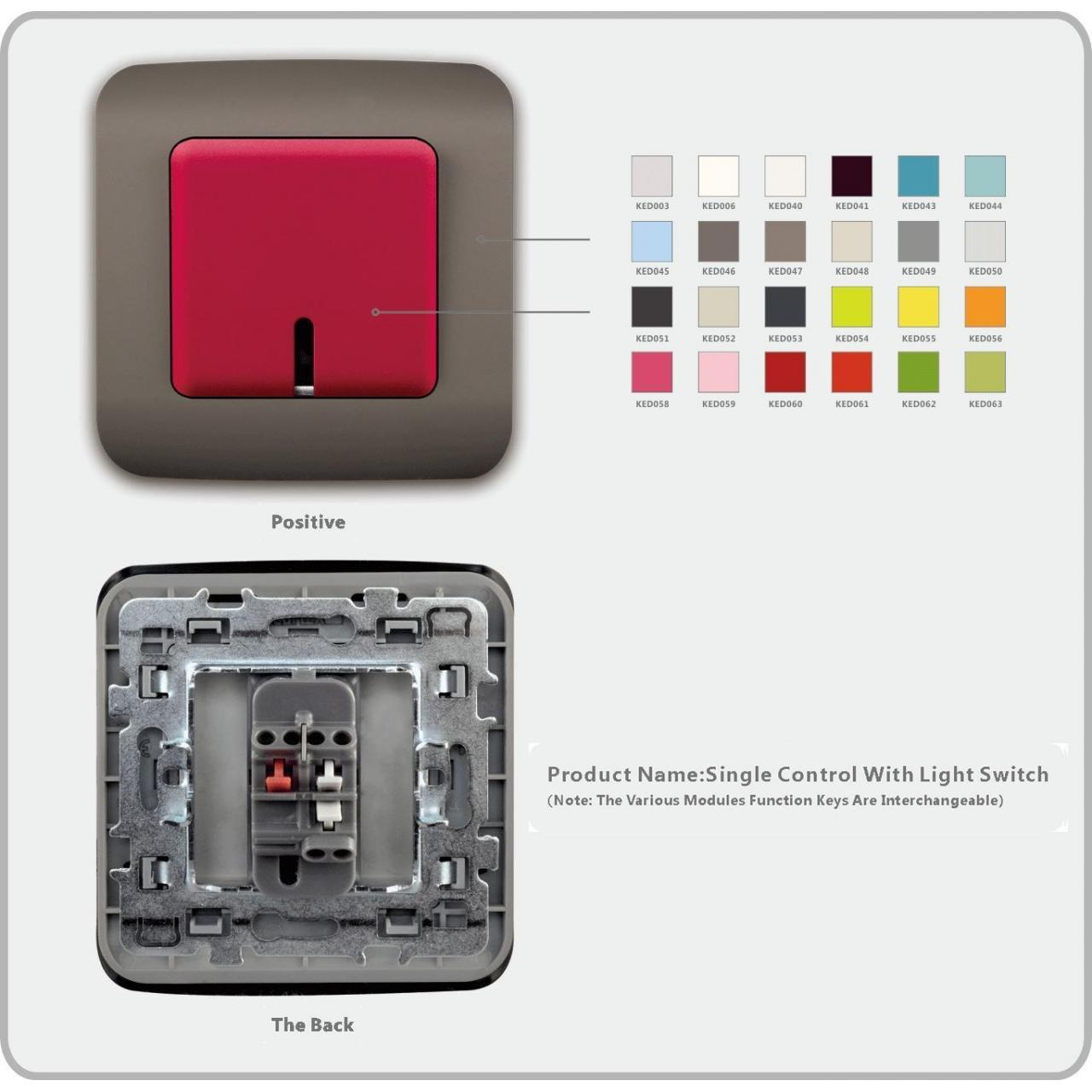 Switch Socket Series Single controller With Light Switch