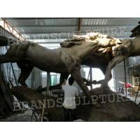 Xiamen horse project giant external running horse fiberglass sculpture