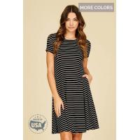 Tops & Dresses Elaine Striped Midi