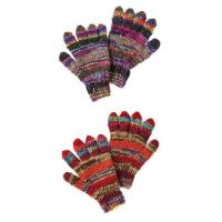 Wholesale Pair of wool knit patchwork finger gloves from china suppliers