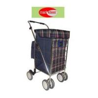 Six-Wheel Shopping Cart, Collapsible