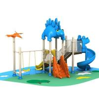 Commercial kids play structure park plastic slides outdoor garden play toys