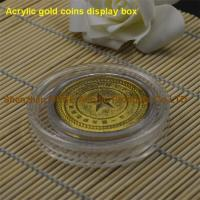 Wholesale Round Shaped Clear Acrylic Gold Coin Display Case-Perspex Coin Box from china suppliers