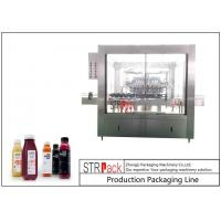 8000 BPH Bottle Packing Machine Line Automatic Rotary Bottle Washing Machine With 24 Heads