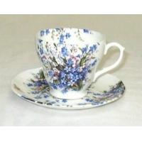 Forget-Me-Not & Lily Cup and Saucer
