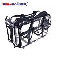 School Bags Large capacity pvc clear vinyl cosmetic bag with shoulder strap