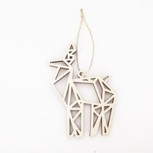 Quality New animal shape engraved hanging plaque laser cut wood ornaments for sale