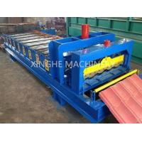 Automatic Glazed Tile Roll Forming Machine With 2.5 Ton Capacity Decoiler