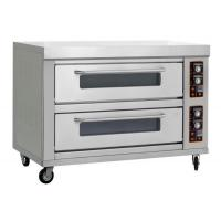 Wholesale Commercial 2 deck 4 trays gas pizza oven from china suppliers