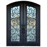 Steel gate Wrought Iron Door Eyebrow Doule steel Door
