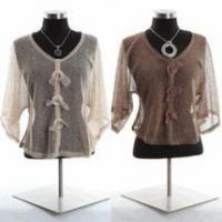 Wholesale Simply Noelle mesh jacket Bolero shirt Camel or brown one size from china suppliers
