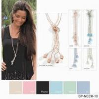 Buy cheap Simply Noelle necklace crystal bolero khaki, pink, blue, green, pewter from wholesalers