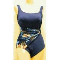 Buy cheap Swimwear SOLD OUT Roxanne navy & floral draped sash swimsuit from wholesalers