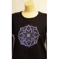 Buy cheap Christine Alexander Sweatshirt Stained Glass Medallion Size 3x on black from wholesalers