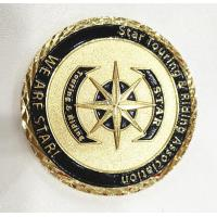 Wholesale Brass Gold Customize Challenge Coins Souvenirs With Diamond Cut Edge from china suppliers