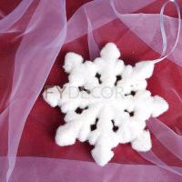 China 8 inches glittering snowflake handicrafts hanging snowflakes Christmas Ornament on sale