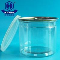 Wholesale 21OZ 610ML 401# Easy Open Ends PET Plastic Transparent Tube Cans For Food Canned from china suppliers