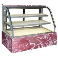 Marble Base Glass Cake Cabinet Display Fridge for sale