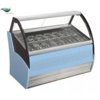 curved glass door ice cream display freezer showcase for sale