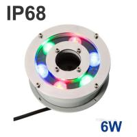 Wholesale 100% Waterproof Fountain Type 6W RGB Stainless Steel Led Fountain Light For Swimming Pool from china suppliers