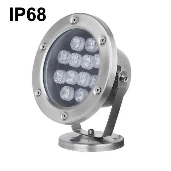 Quality Led Under Water Fishing Lights IP68 Led Underwater Boat Lighting 24W Marine Light for sale
