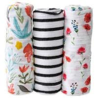 Wholesale Bamboo Muslin Swaddle Square Blankets from china suppliers