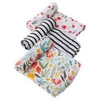 Wholesale Organic Muslin Cotton Swaddle Blankets - Set of 2-47x47 Inch Large Unisex Swaddling Blanket from china suppliers