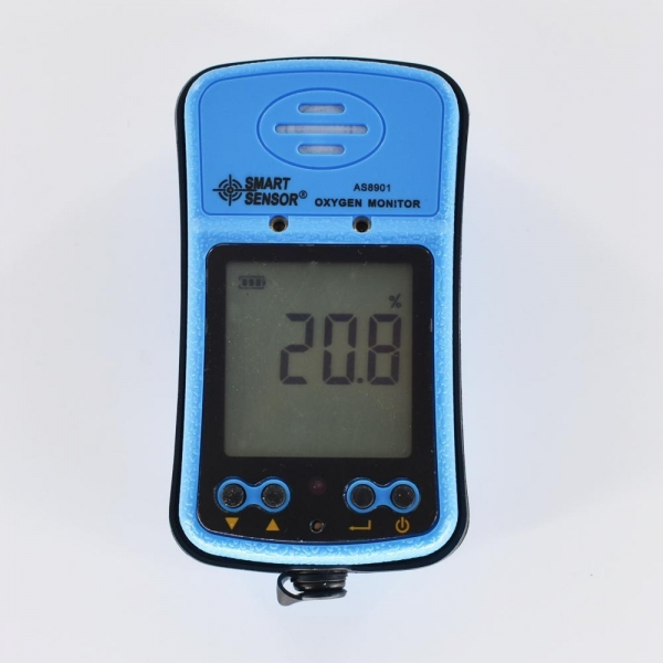 Quality Oxygen Monitor AS8901 O2 Gas Detector 0-30% VOL Sound Light Alarm for sale